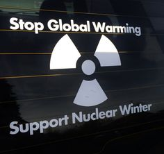 Us Made Stop Global Warming Support Nuclear by TacticalTextile, $4.99