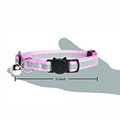 Amazon.com: Reflective Adjustable Breakaway Nylon Cat Collars Set of 4 Durable & Safe Pink, Red, Blue, Black: Home & Kitchen