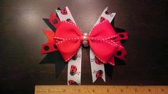 Lady Bug Pinwheel by AmalieBowtique on Etsy, $7.99