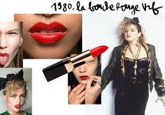 1980 : la bouche rouge vif