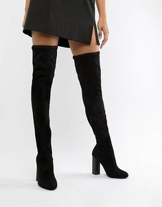 Shop the new range of women's boots at ASOS. Choose your favourite ladies boots in leather and suede, heeled or flat boots style available today at ASOS. Black Knee High Boots Outfit, Over The Knee Boot Outfit, Thigh High Boots, High Heel Boots, Heeled Boots, High Heels, Flat Boots, Women's Boots, Brown Boots