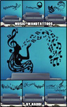 MUSIC wall decals at Naddi via Sims 4 Updates