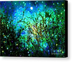 Magical Night Canvas Print featuring the painting Magical Night by Daniel Janda