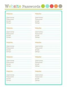 Home Management Binder  Home Inventory  Printables  Last