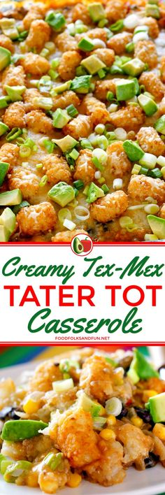 Tater Tot Casserole is one of those classic comfort food dishes that everyone loves. This Tater Tot Casserole is so cheesy and infused with zesty Tex-Mex flavors.