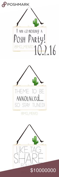 Save the date!!! It is time to celebrate!!! I have been asked to co-host my first Posh Party!!! Nominate your favorite closet crushes or tag me in chic and simple listings. Only posh compliant closets will be considered for host picks. Thank you in advance for your support and shares!  🌵🌵🌵🌵🌵🌵🌵🌵🌵🌵🌵🌵🌵🌵-Mo  10•2•16 Evening party at 10pm est Theme to be announced! Madewell Other