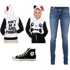 Love this hoodie! Hello Panda, Hello Kitty, That One Friend, Hoodies, Sweatshirts, Fashion Photography, Sad, Graphic Sweatshirt, Sweaters
