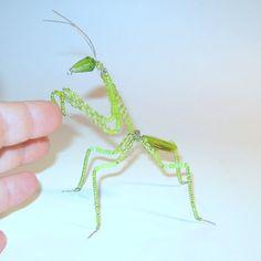 Praying Mantis Beaded on German Wire