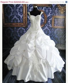 On Sale Custom Made Cinderella Ball Gown by MoonlitBridals on Etsy - WOW!