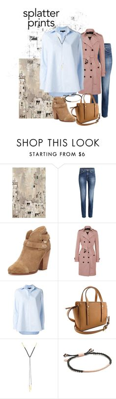 """work in prints"" by ewa-kamila ❤ liked on Polyvore featuring WALL, rag & bone, Burberry, Alexander Wang, Gorjana, Spring, city, Work and paintiton"
