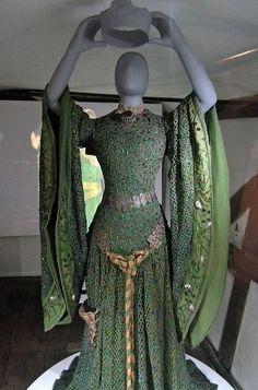 Ellen Terry's beetle wing dress, worn for her role as Lady Macbeth