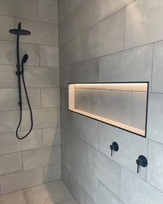 Did you know shower niches are a standard inclusion in all of our homes? Here is one of our faves with LED strip lighting added to make it… Bathroom Niche, Shower Niche, Bathroom Renos, Bathroom Interior, Master Bathroom, Shower Lighting, Mirror With Led Lights, Bathroom Design Small, Strip Lighting