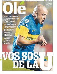 Victoria de Boca ante la U por semis de Copa 2012