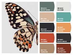 """""""Butterfly"""" - Color Palette Inspiration Chip It! by Sherwin-Williams – Home Modern Color Palette, Colour Pallette, Modern Colors, Colour Schemes, Color Combos, Room Colors, House Colors, Paint Colors, Colours"""