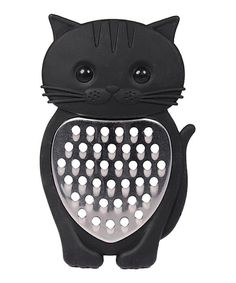 Grate cheese to bait the mice?? Lol umm I'm kidding this is cute ! Black Cat Grater by Streamline #zulilyfinds