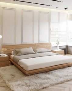15 Mid Century Modern Bedroom Things You Need to Create. Mid-century modern bedroom style is very trendy now, everyone is trying to get a bit of retro into their homes. Bedroom Bed Design, Modern Bedroom Design, Interior Modern, Home Decor Bedroom, Interior Design, Contemporary Bedroom, Contemporary Design, Bedroom Ideas, Bed Furniture