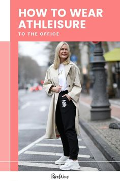 Workleisure is the newest trend to pop up this fall, but how exactly does one successfully wear altheisure to the office? We've got you covered. #workout #activewear #outfits Best Joggers, Night Outfits, Work Outfits, Office Dress Code, Plus Size Looks, Sneakers Looks, Professional Attire, Business Casual Outfits, Street Style Looks