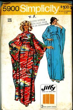 Obsessed with caftans lately--Believe it or not this is the exact pattern I made and it was red like this!