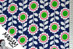 Jersey Blumen von MagaM-Stoffe auf DaWanda.com