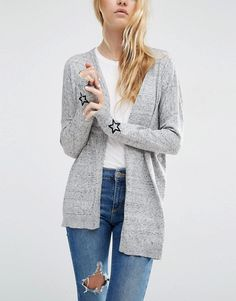 ASOS | ASOS Swing Cardigan with Star Cuff Patch