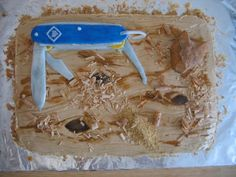 Cub Pocket Knife Cake (Scout Theme)