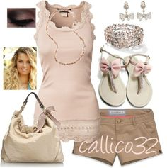 """""""Pink and Brown"""" by callico32 on Polyvore"""