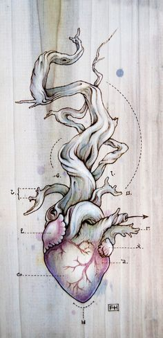 Peut représenter la mort quand il n'y a pas de feuilles et la vie si inversement puisque relié au coeur.
