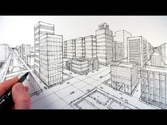 Video: EXTERIOR 2 point Perspective (Get the basic info within the first 3 minutes, the remaining 7 minutes is continuation of the concept to finish the drawing.)