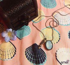 Princesa do mar é sereia  #lojaamei #etiquetaamei #colar #acessorio #concha #mar #sereia