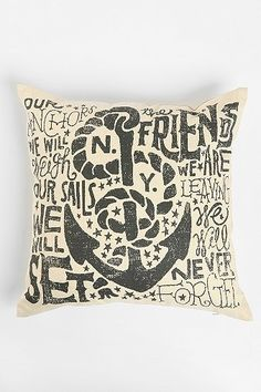 Jon Contino Anchors Away Pillow for Urban Outfitters
