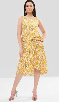 5b5292c255a3 63 Best FLORAL PRINT DRESS images in 2019 | Summer dresses, Casual ...