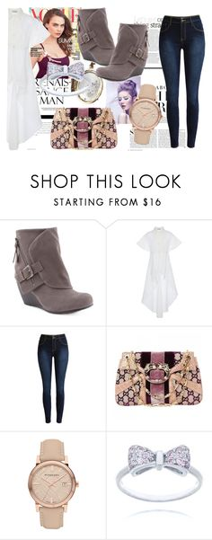 """""""We reach the stars"""" by nicolleeliza ❤ liked on Polyvore featuring Kershaw, Poesia, Blowfish, Gucci and Burberry"""