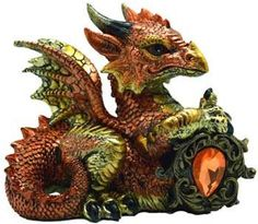 "Orange Dragon w/ Stone 4"""