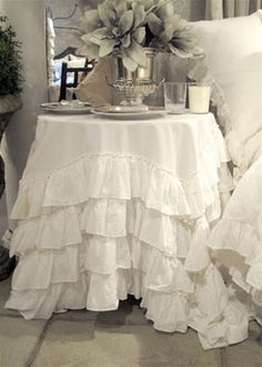 Ruffled Tablecloth By PaulaAndErika On Etsy, $220.00 | For The Home |  Pinterest | Ruffled Tablecloth, Burlap Tablecloth And Booth Ideas