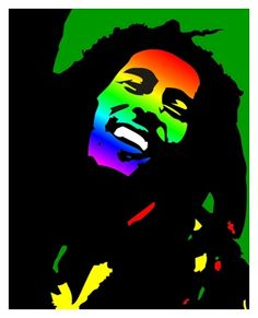 Bob Marley - Pop Art Portrait.