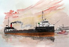 Norman B. MacPherson - Leaving Redpath Sugar - Toronto - 1958 - after delivering first cargo of sugar - watercolour