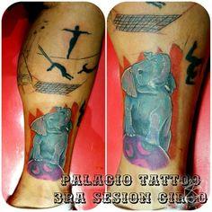 Tattoo de #dannyta circo 3ra sesión