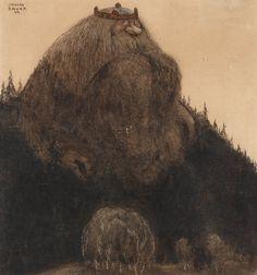 """John Bauer (1882-1918) """"Herr Birre och trollen"""". Signed John Bauer and dated -09"""