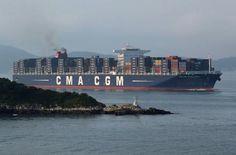 Le CMA CGM Jules Verne arrive à Marseille | Mer et Marine