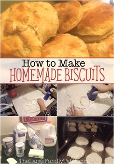 How to Make Homemade Biscuits || Large Family Recipes   In today's new video I share a quick homemade biscuit making time at our house. We've been in a biscuit making mood lately a…