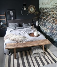 cosy bedroom, natural colours Cosy Bedroom, Small Room Bedroom, Bedroom Inspo, Home Decor Bedroom, Home And Living, Home Furniture, House Design, Interior Design, Decoration