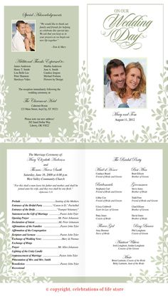 leaves wedding program template