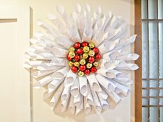 DIY: Old Books and Papers Christmas Holiday Wreath --