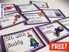 http://www.teacherspayteachers.com/Product/SUPERHERO-Themed-Behavior-Reward-Coupons-FREEBIE-1265224