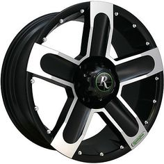 18x9 Black Machined High-Country 6x135 25 Rims Trail Blade MT 35 Tires