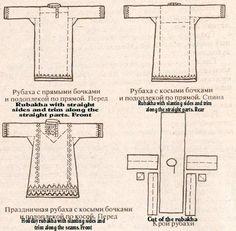 Der Hauptbestandteil einer frühmittelalterlichen slawischen Tracht (sowohl bei Reich als auch bei Arm) bestand aus einer Soroskha (=Hemd), s...