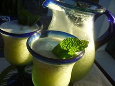 Pineapple, Mint and a splash of #Vodka made with #Thermomix