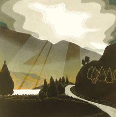 'Heavenly' By Printmaker Carol lander. Blank Art Cards By Green Pebble. www.greenpebble.co.uk