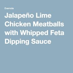 Turkey Meatballs with Whipped Feta Dipping Sauce