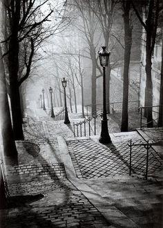les escaliers de montmartre, paris, 1936                                                                                                                                                      More